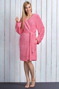 Dámský župan Alba Pink z bambusového vlákna