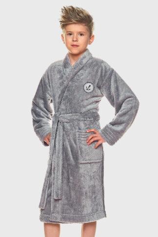 Chlapecký župan Elegant šedý