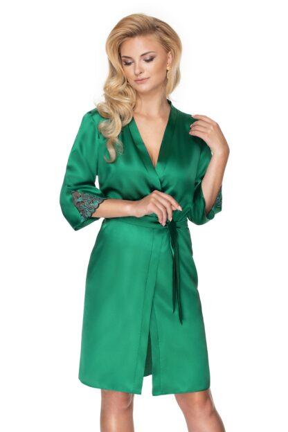 Dámský saténový župan Emerald