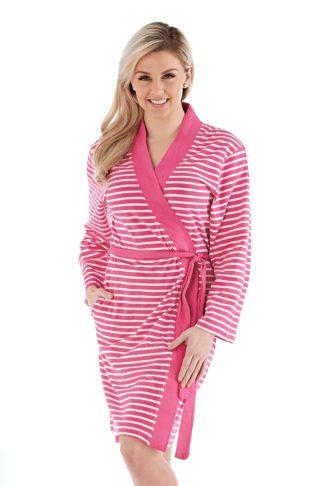Dámský bavlněný župan Kimono růžový