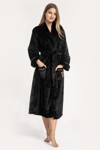 Dámský župan DKNY Signature robe černý